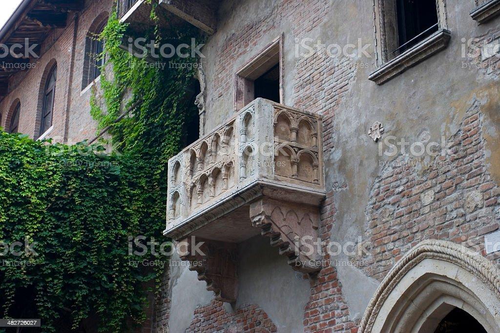 Balcony of Juliet royalty-free stock photo