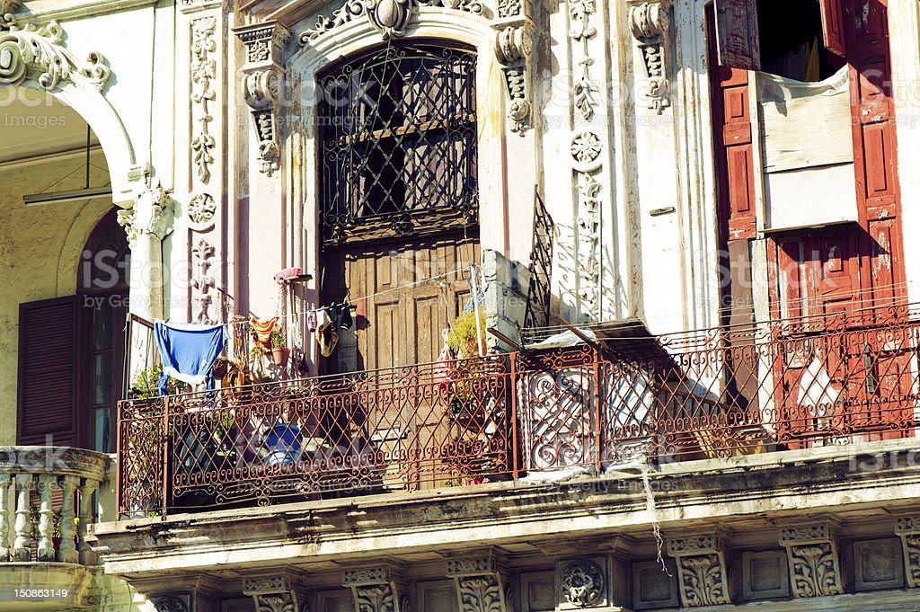 Balcony of La Havana royalty-free stock photo