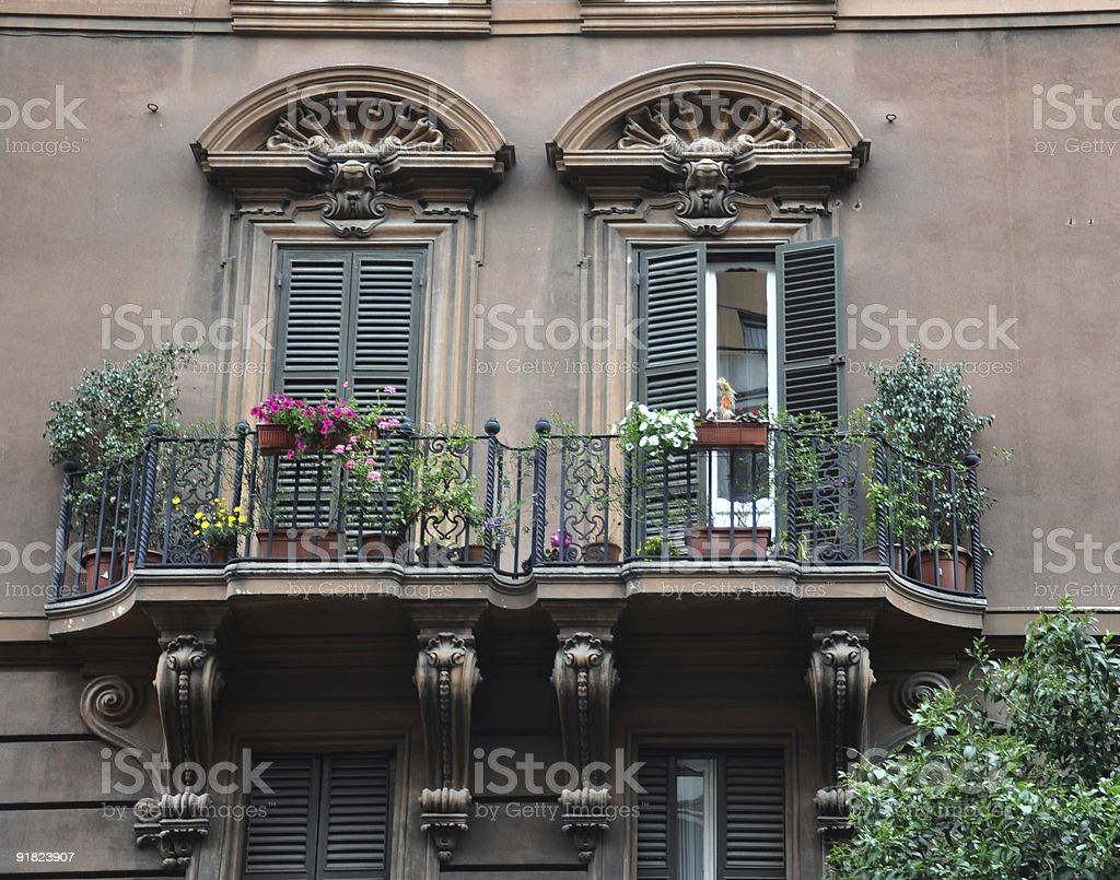 Balcony of Rome stock photo