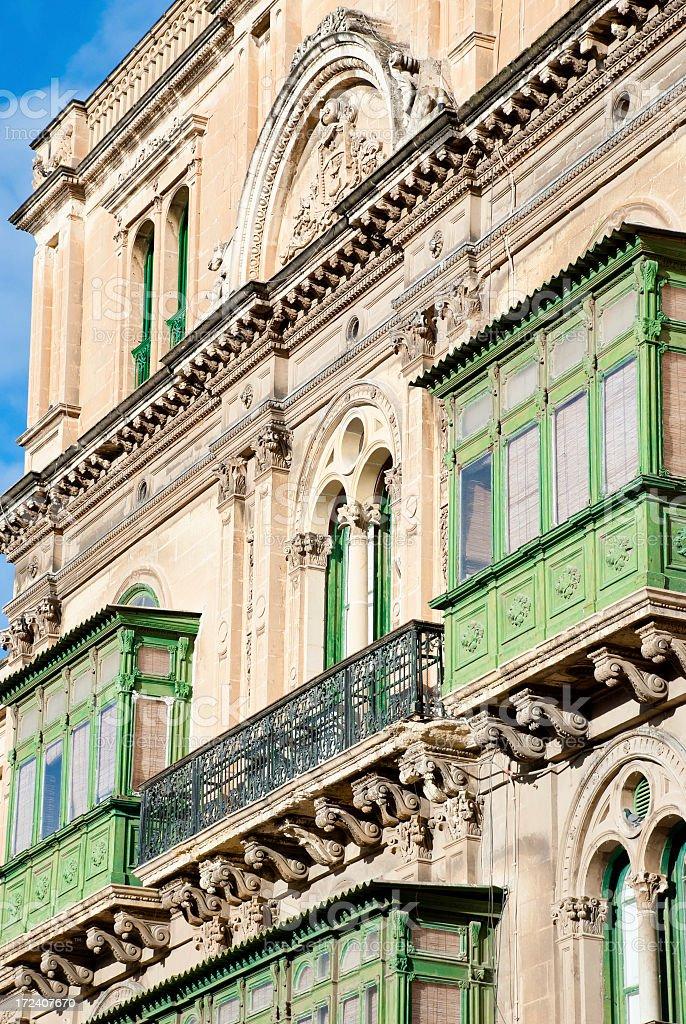 Balcony on a Maltese Street royalty-free stock photo