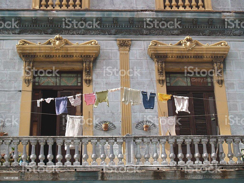 Un balcon photo libre de droits