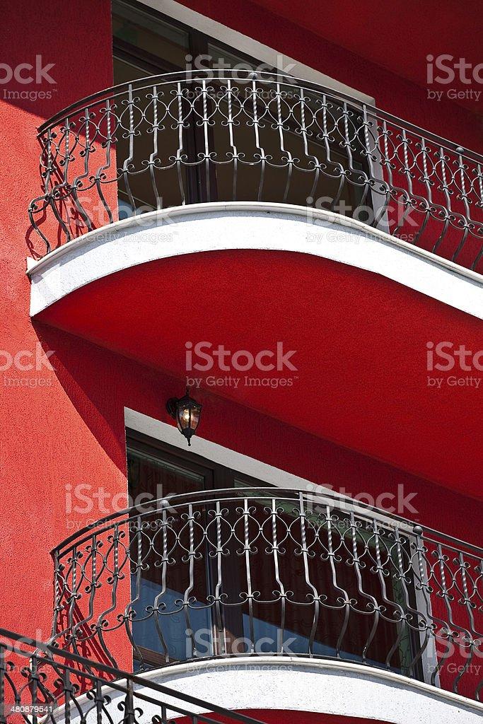 balcony railing of iron royalty-free stock photo