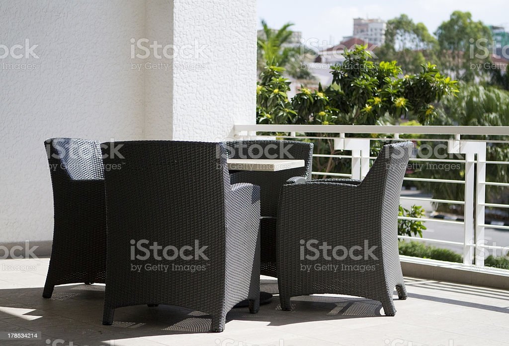 Balcony Table for Four Guests royalty-free stock photo