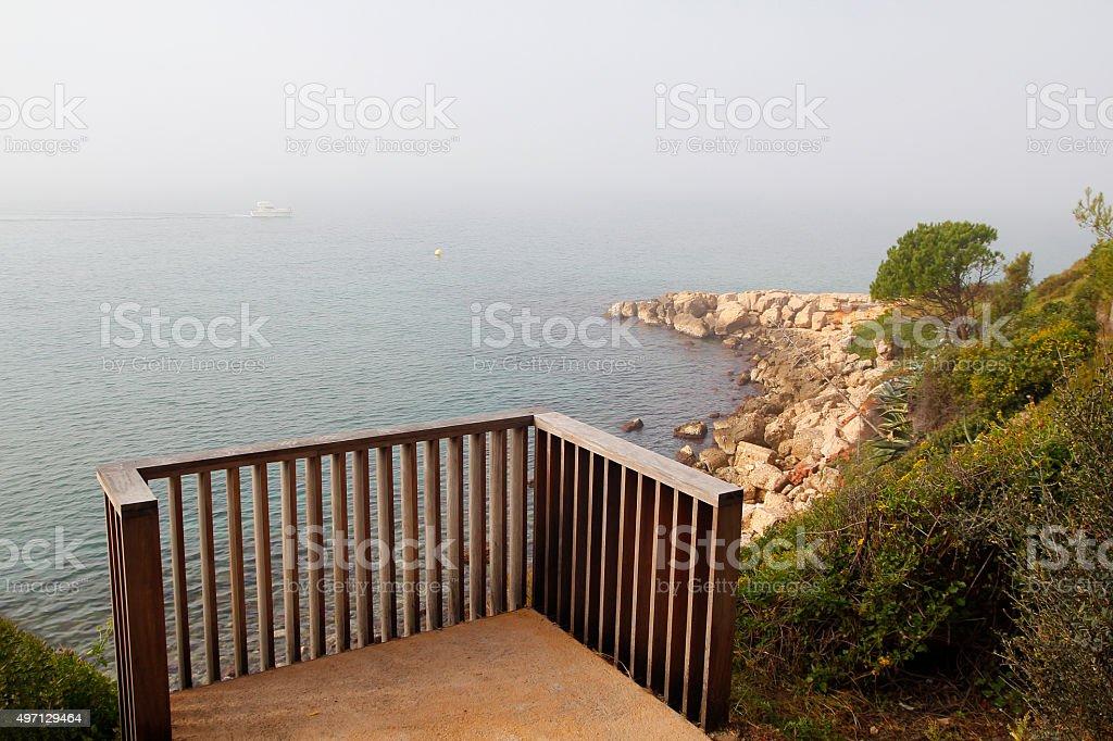 Balcony to the sea stock photo