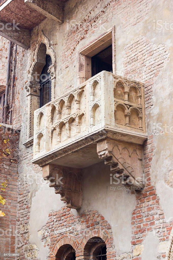 Balcony Veronese stock photo