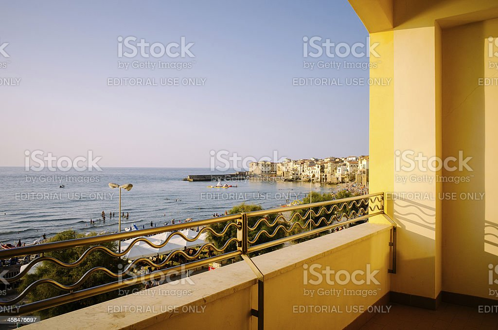 Balcony with a view royalty-free stock photo