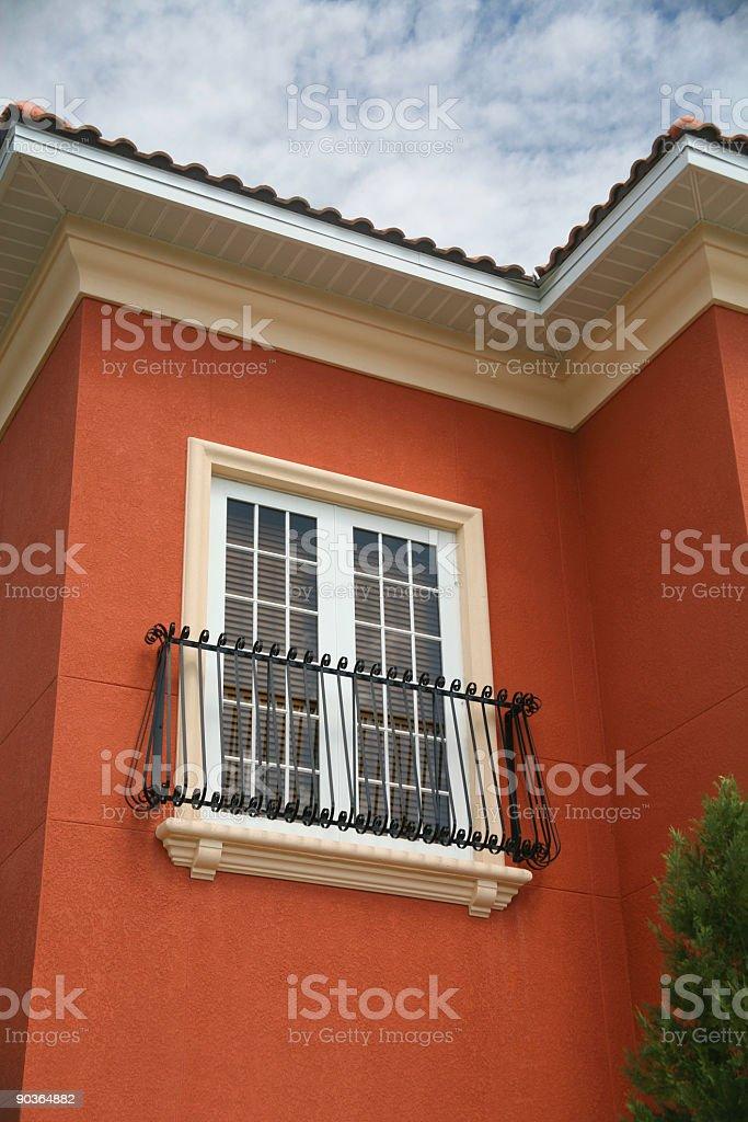 Balcony with French Doors royalty-free stock photo