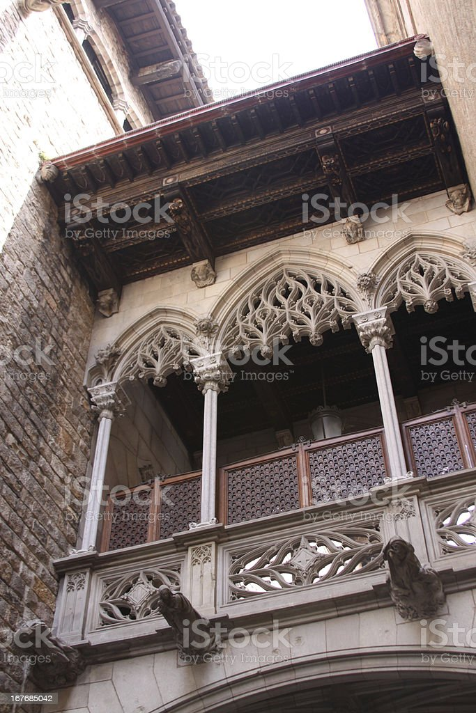 Balcony-style Romans. royalty-free stock photo