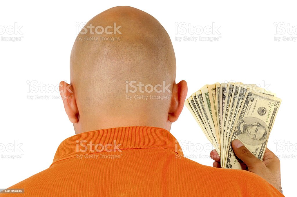 Bald and Money stock photo