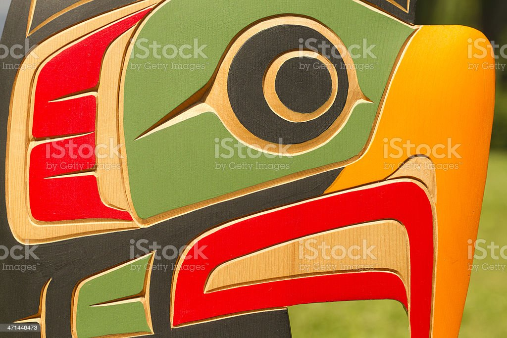 Bald Eagle Woodcarving stock photo