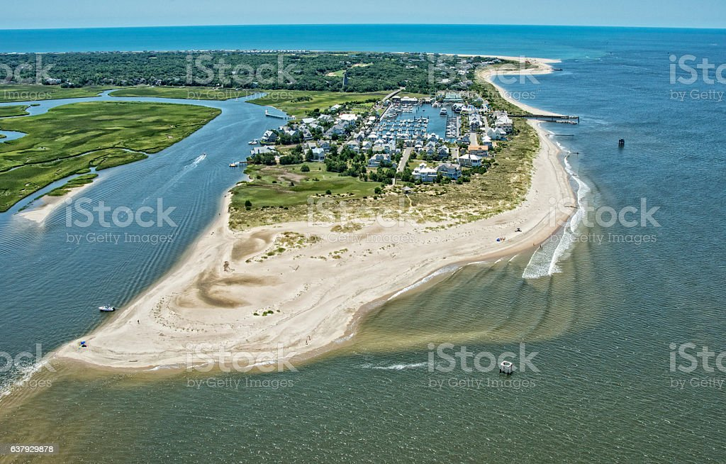 Bald Head Island Inlet stock photo