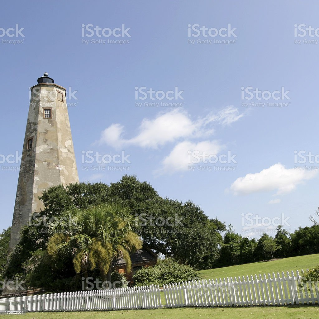 Bald Head Island Lighthouse 7 stock photo