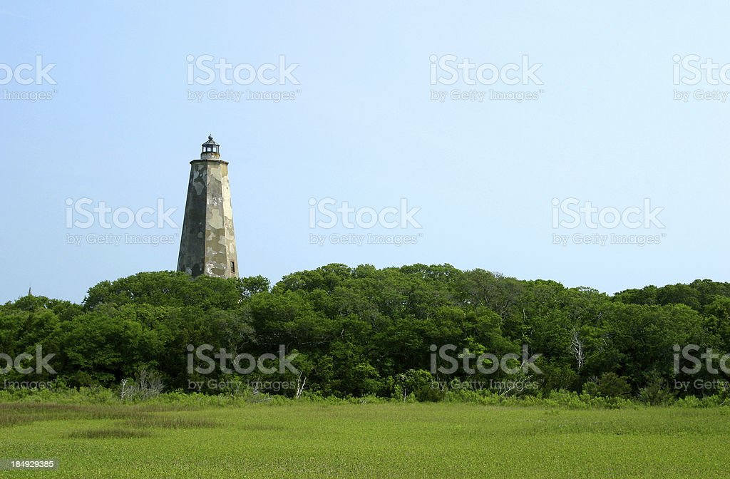 Bald Head Island Lighthouse stock photo
