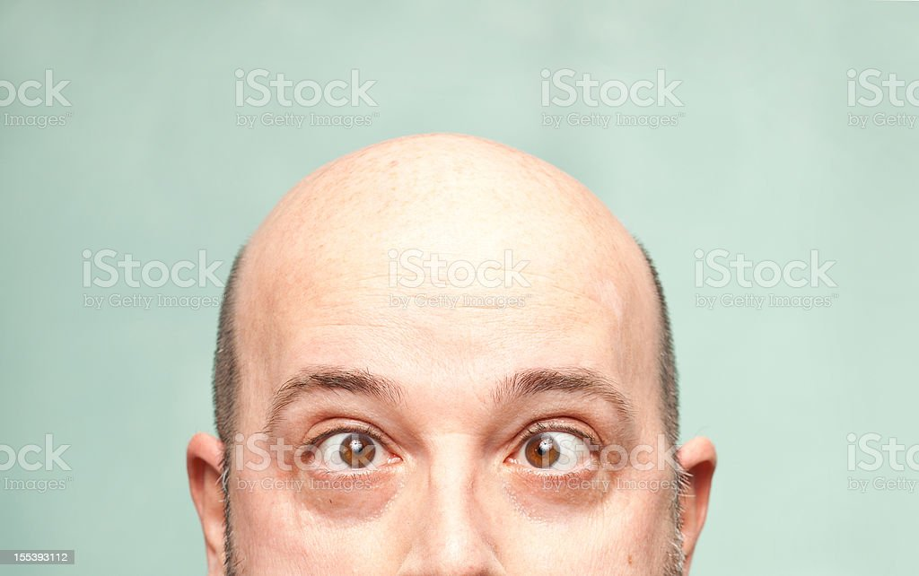 Bald Headed Man stock photo
