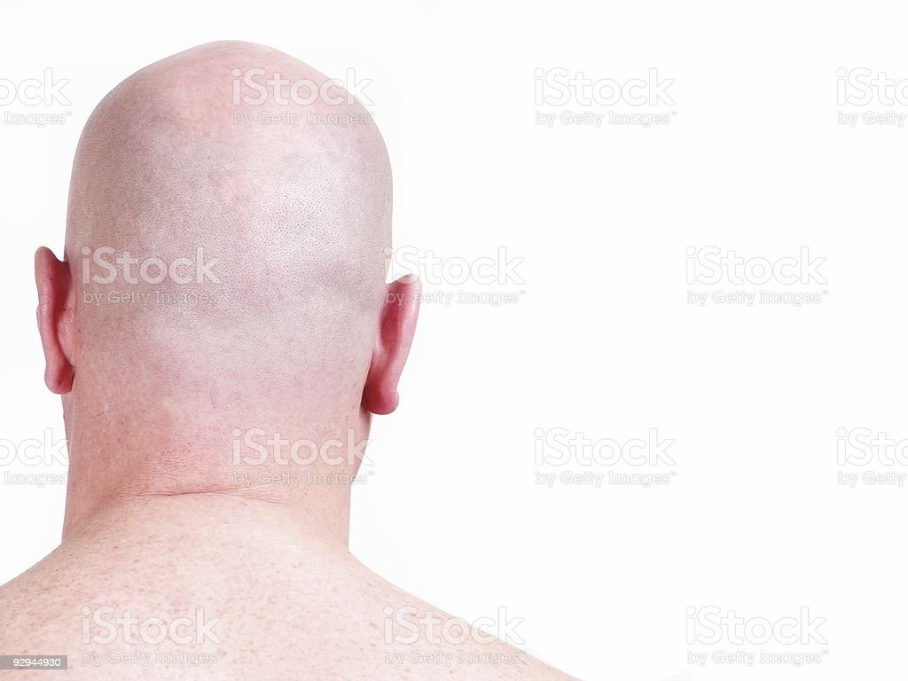 bald (shaved) male head from back royalty-free stock photo