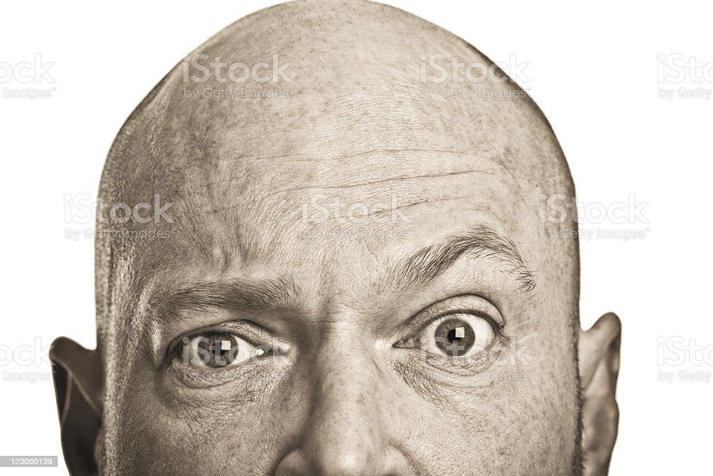 Bald man face royalty-free stock photo