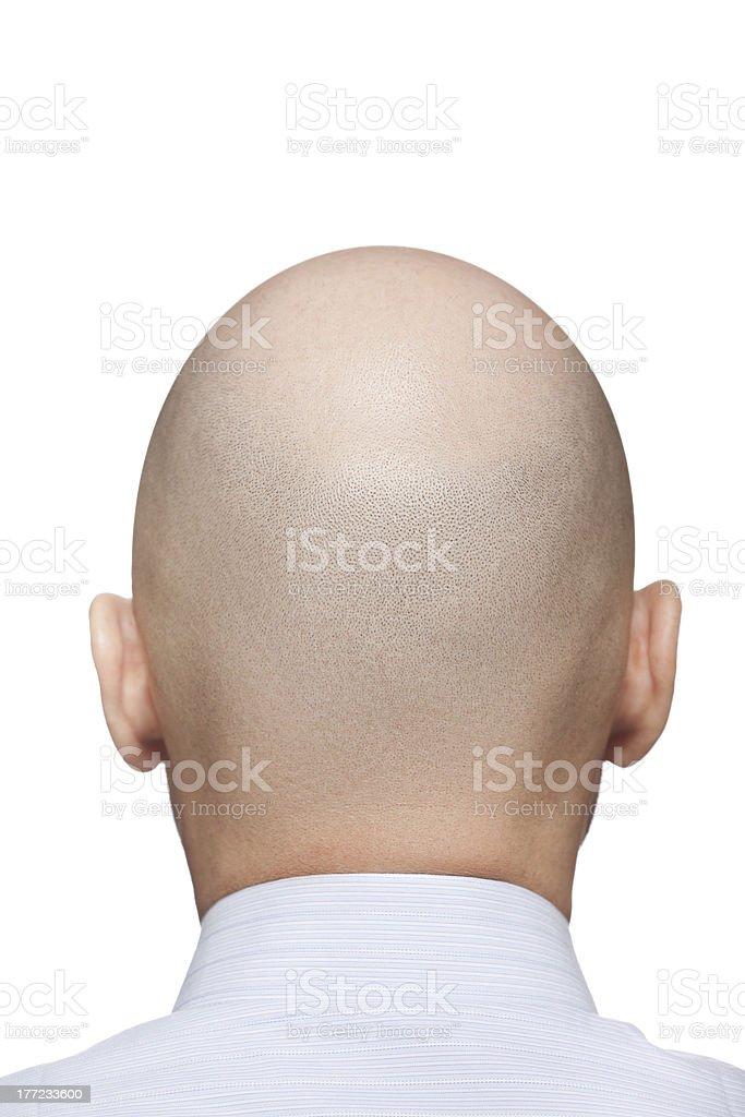 Bald man head royalty-free stock photo
