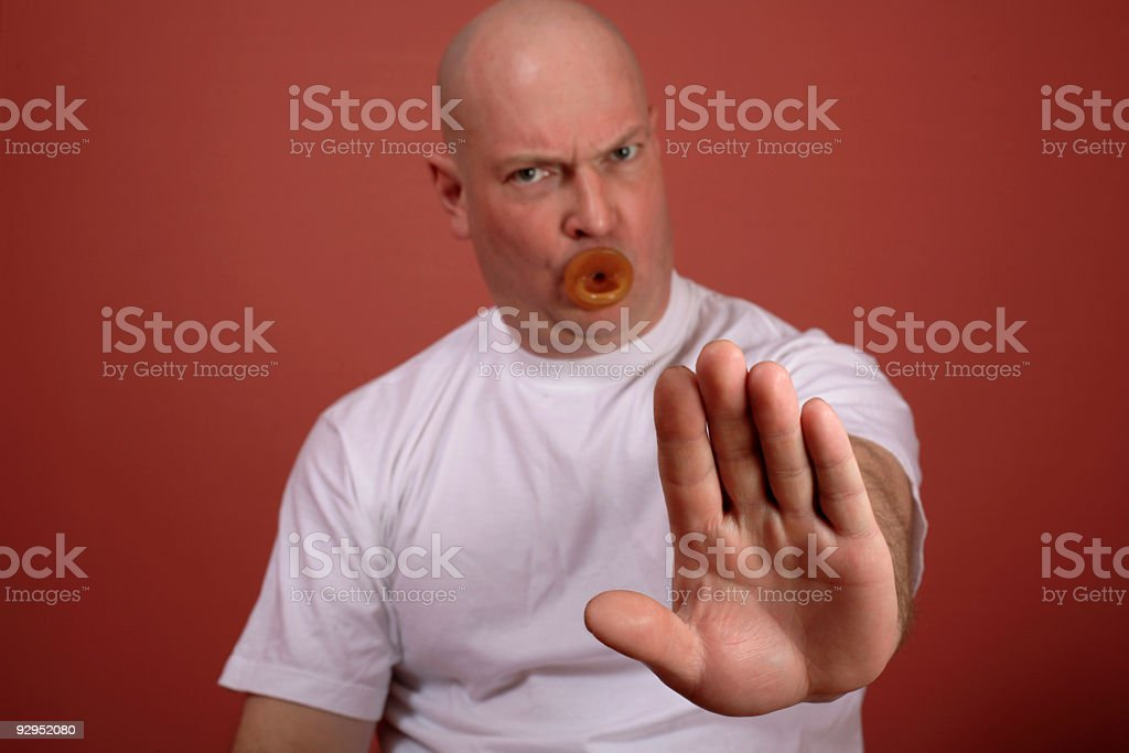 bald man with dummy royalty-free stock photo