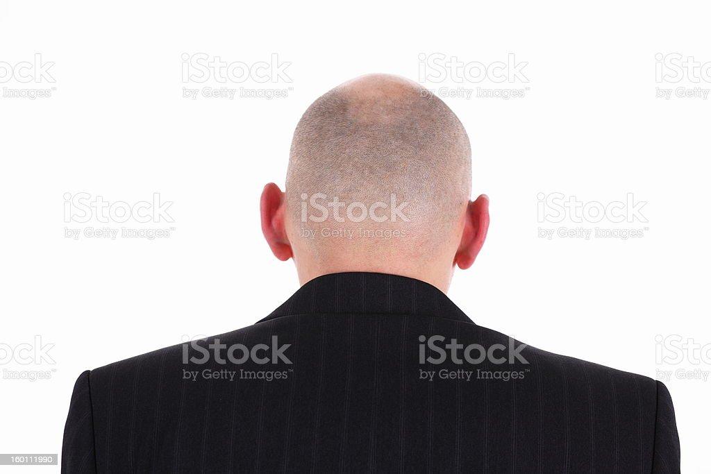 bald man's head royalty-free stock photo