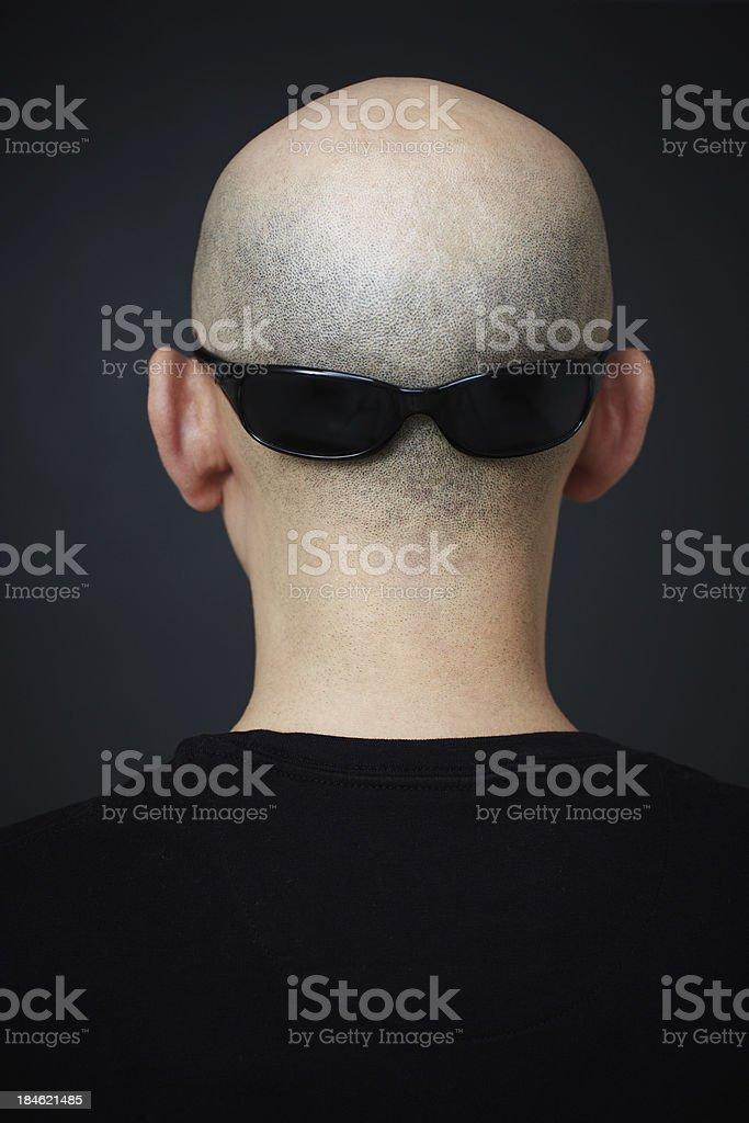 Bald royalty-free stock photo