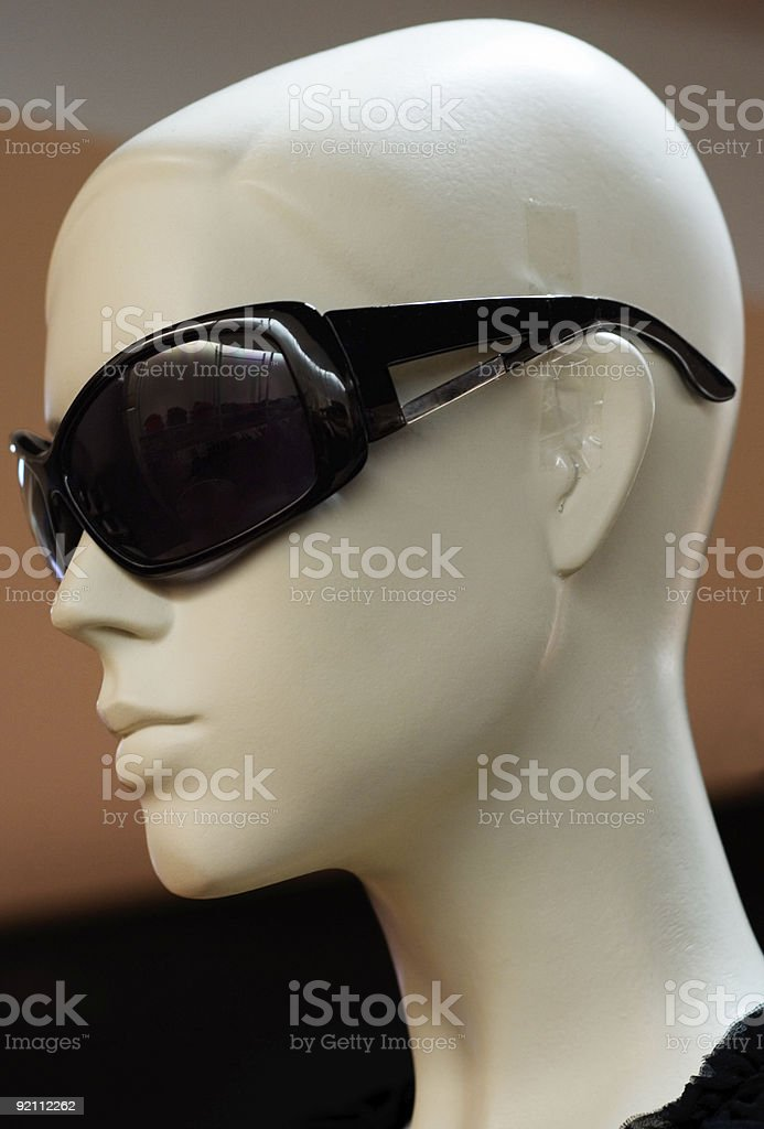Bald Sunglasses Dummy (Side View) royalty-free stock photo