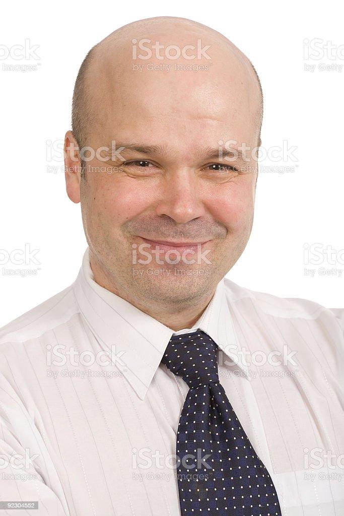 bald-headed man royalty-free stock photo
