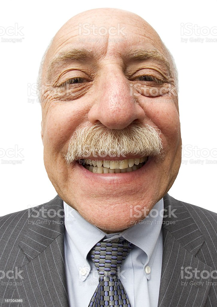 Balding But Smiling stock photo