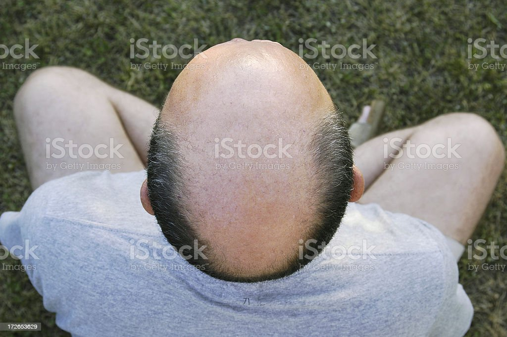 Balding man stock photo
