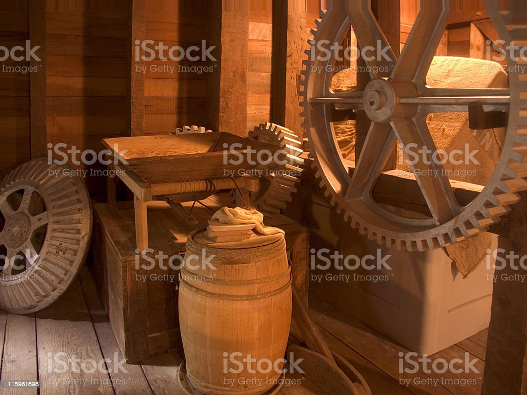 Bale Grist Mill, St Helena - CA stock photo