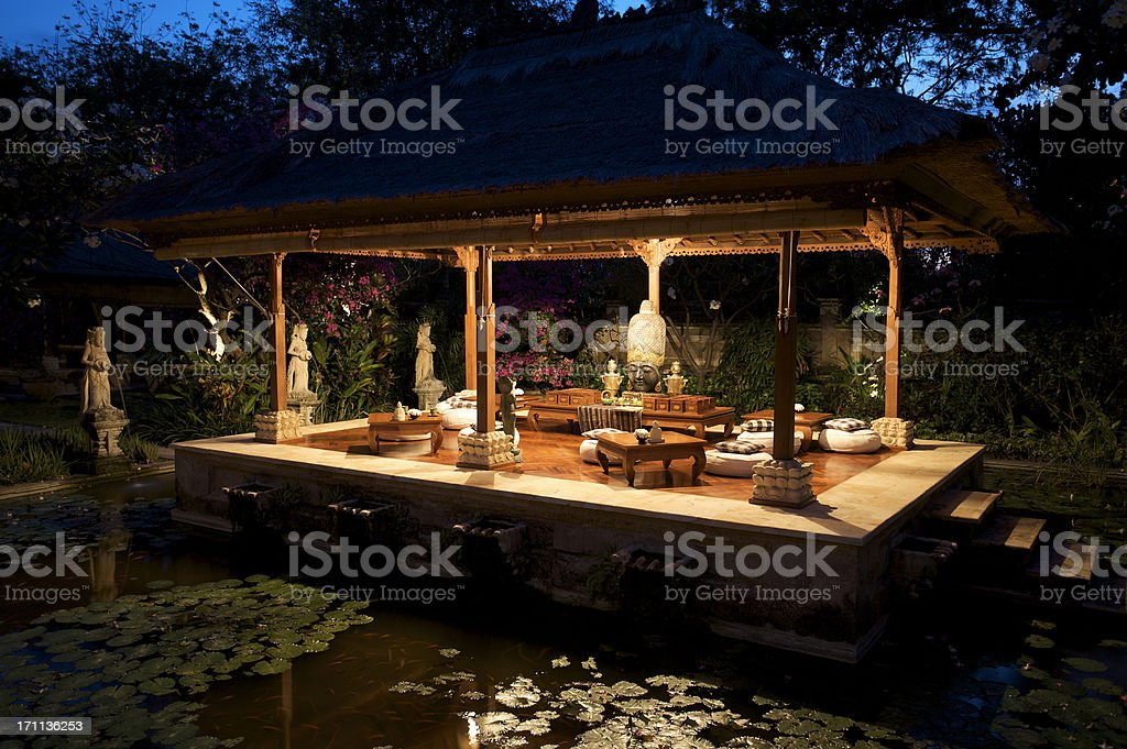 Bale in Bali royalty-free stock photo