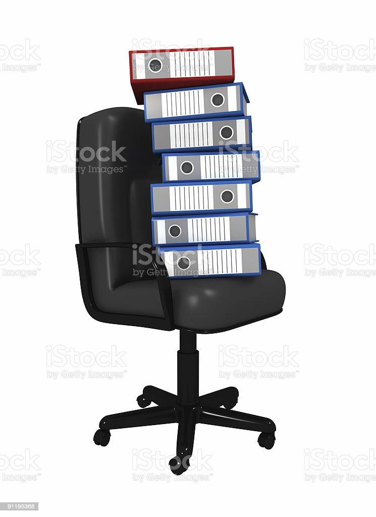 Bale of folders royalty-free stock photo