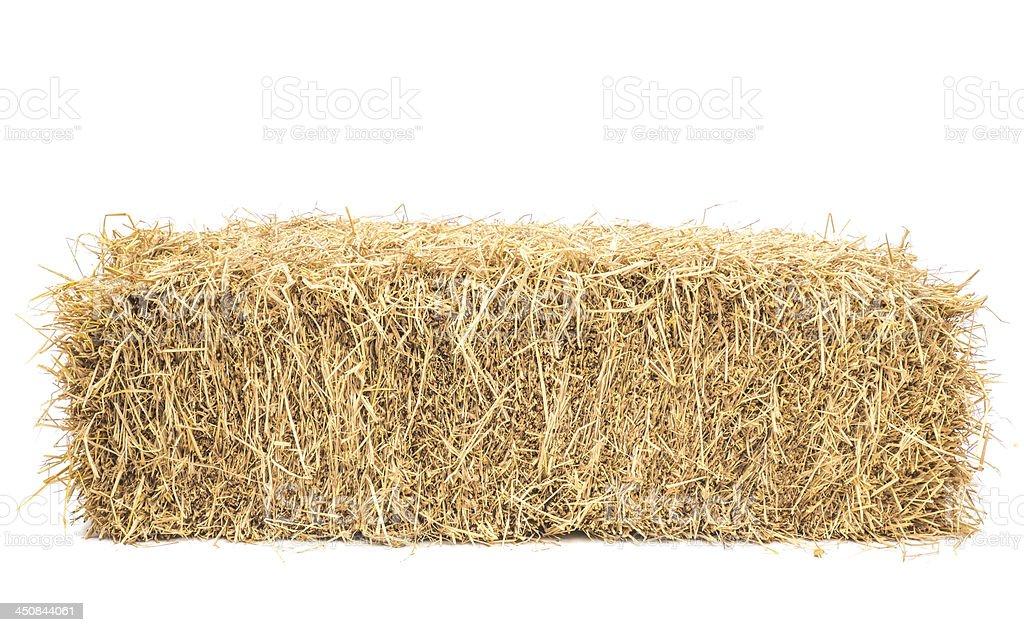 bale of hay isolated stock photo