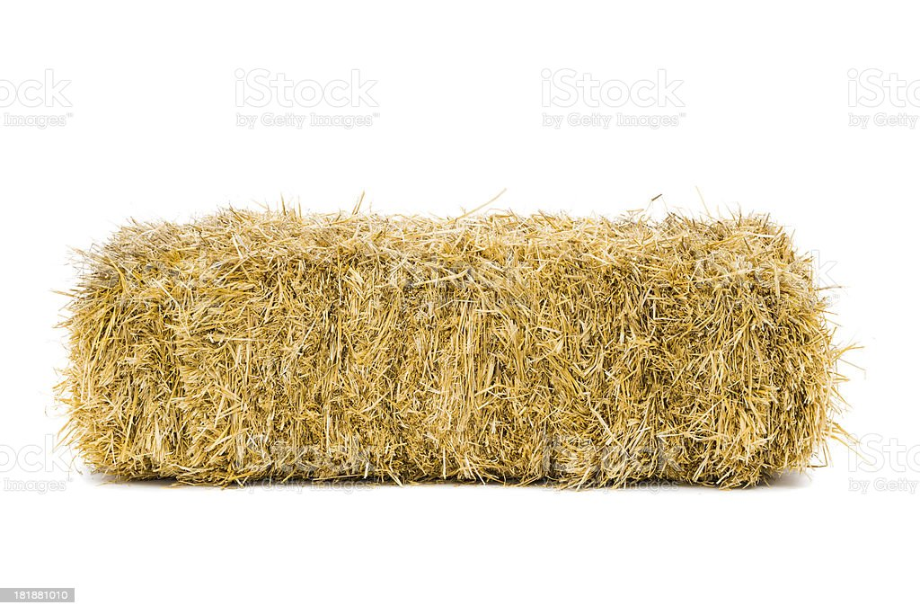 Bale of hay stock photo