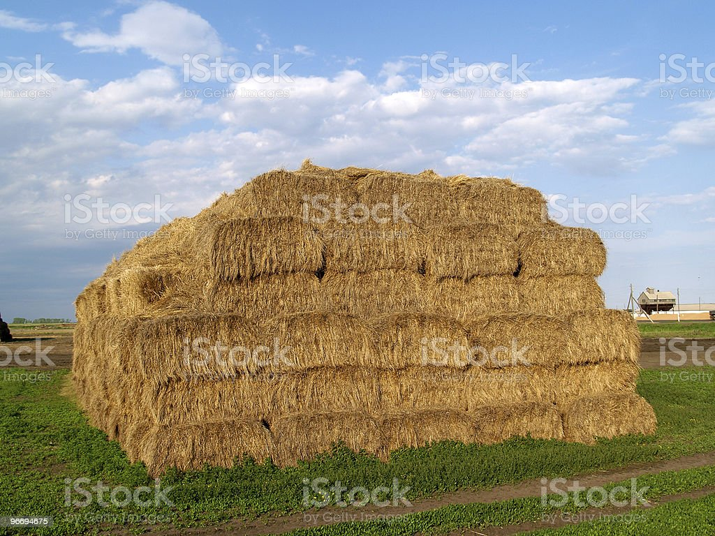bale of haystack royalty-free stock photo