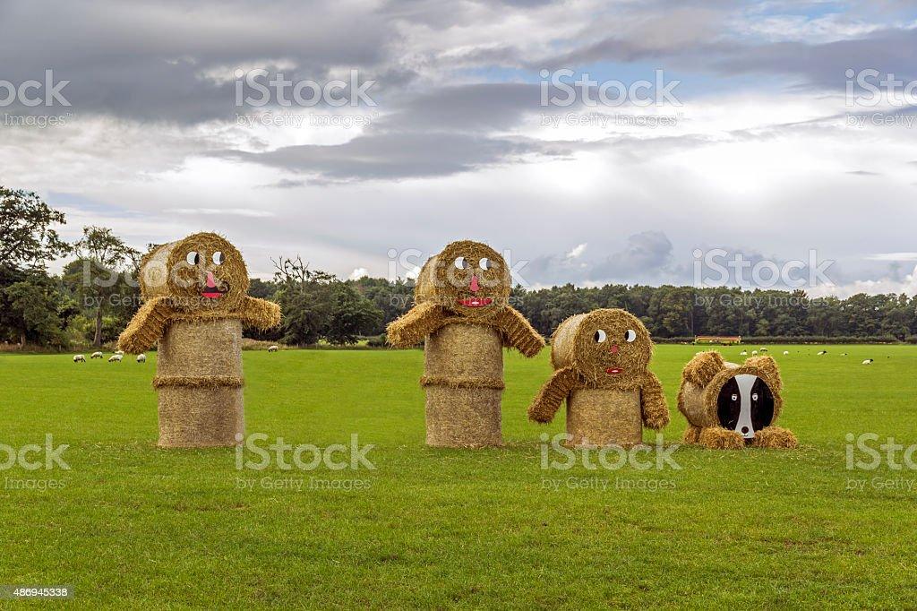 Bales Of Hey stock photo