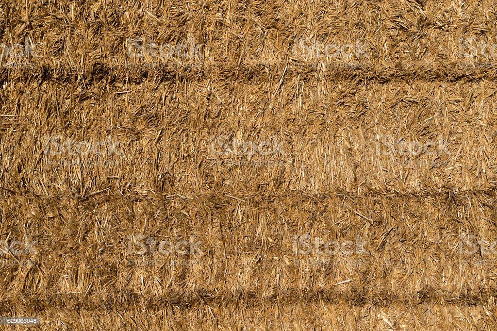 Bales of straw background stock photo