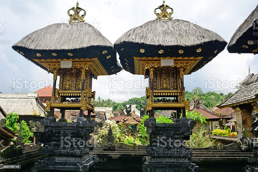 Bali Aga village, Penglipuran, Bali, Indonesia stock photo