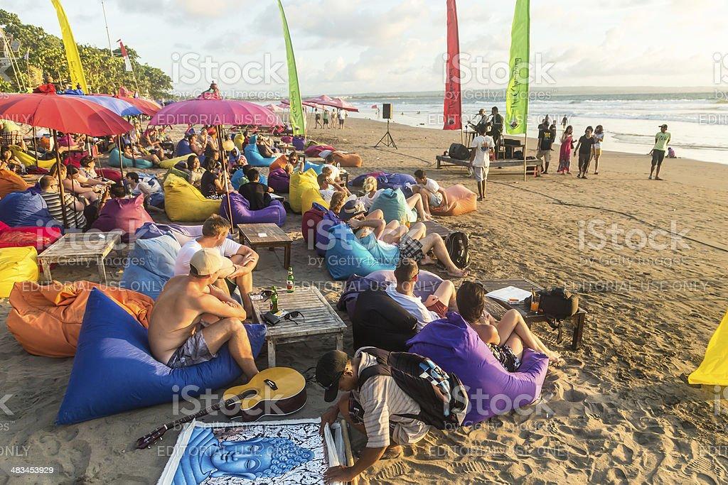 Bali beach bar stock photo