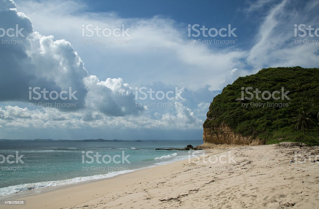 Bali beach in Indonesia. stock photo