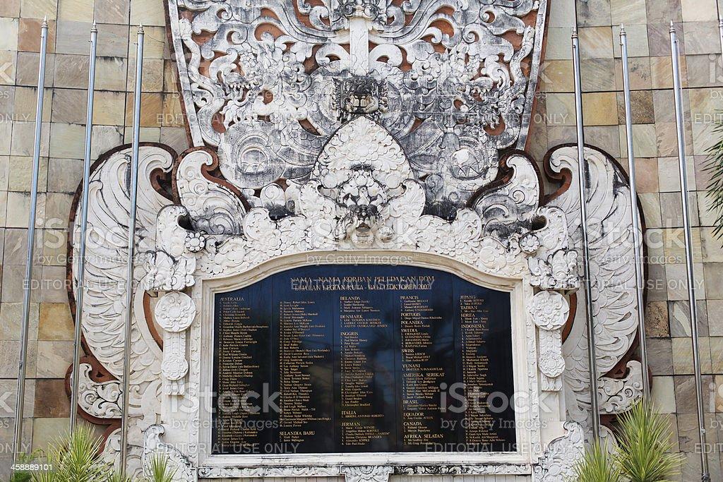Bali Bombing Memorial stock photo