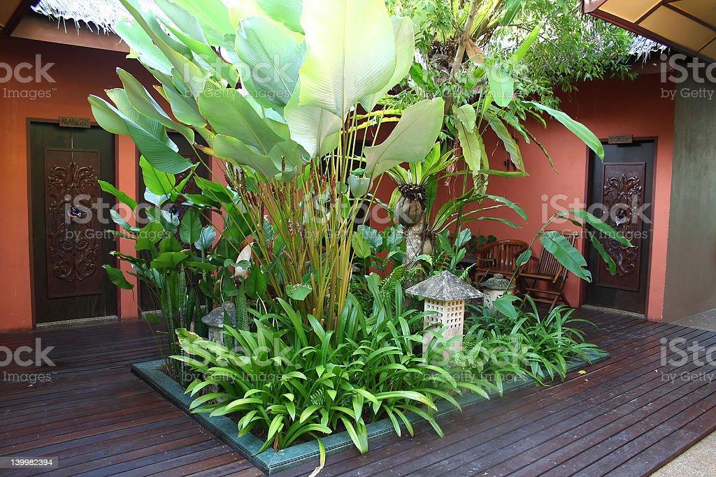 バリの中庭 ロイヤリティフリーストックフォト