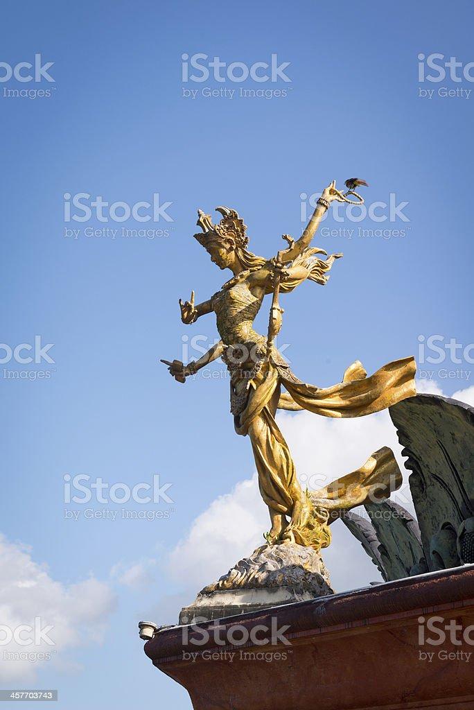 Bali goddes of dance statue stock photo
