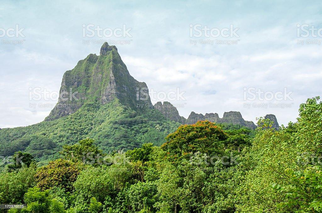 Bali Hai Mountain on Moorea royalty-free stock photo