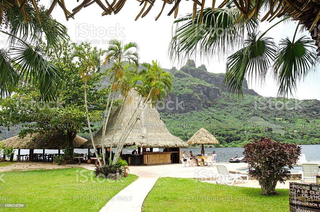 Bali Hai Resort Moorea royalty-free stock photo
