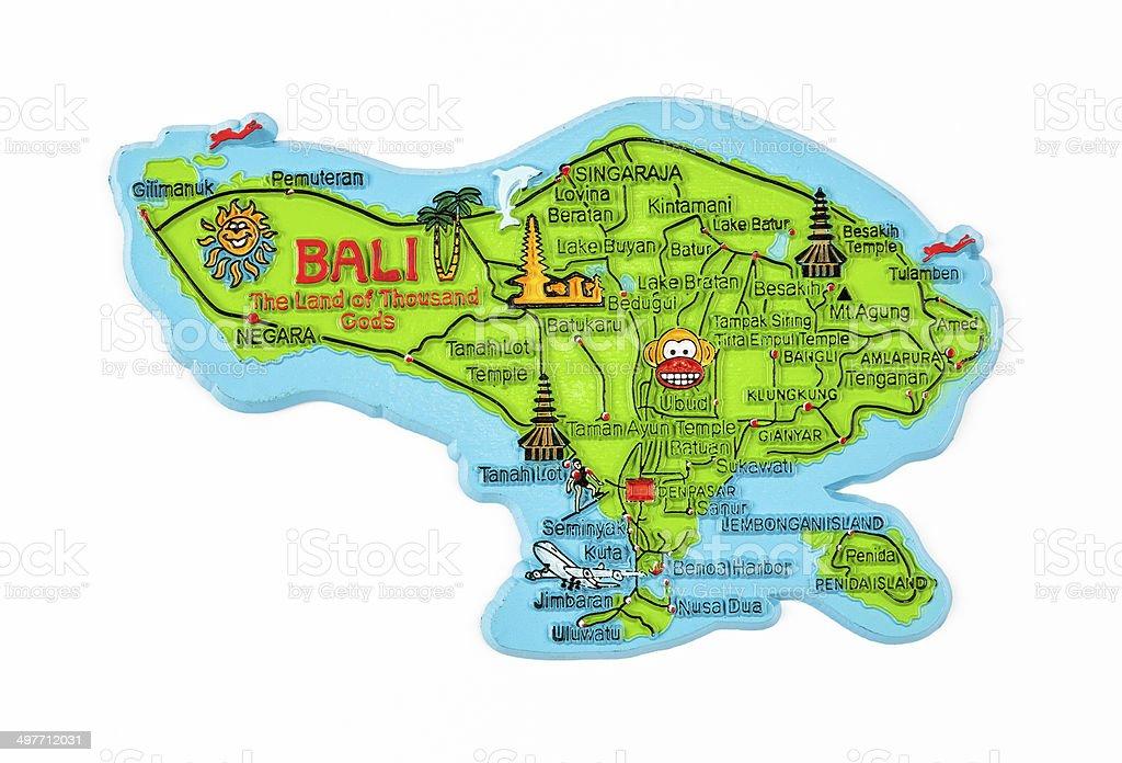 Bali Island Map Figure stock photo