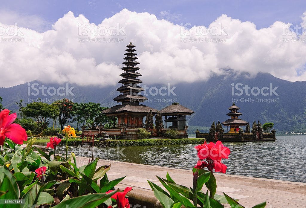 Bali Lake Temple royalty-free stock photo