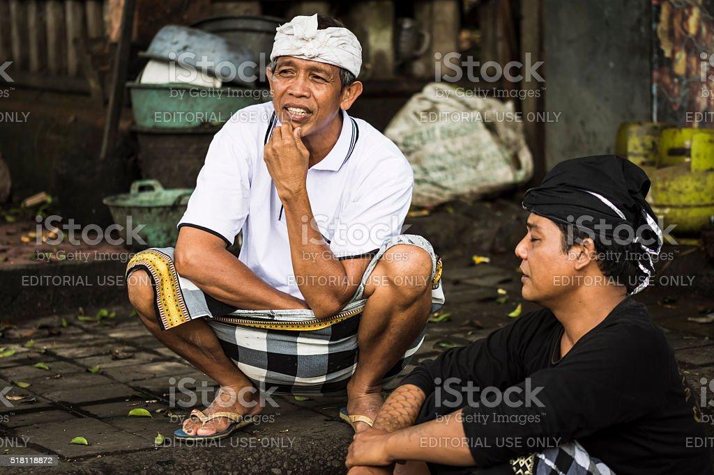 Bali locals stock photo