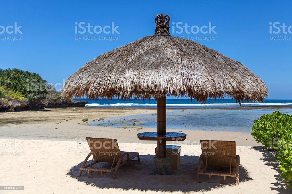 Bali Nusa dua beach stock photo