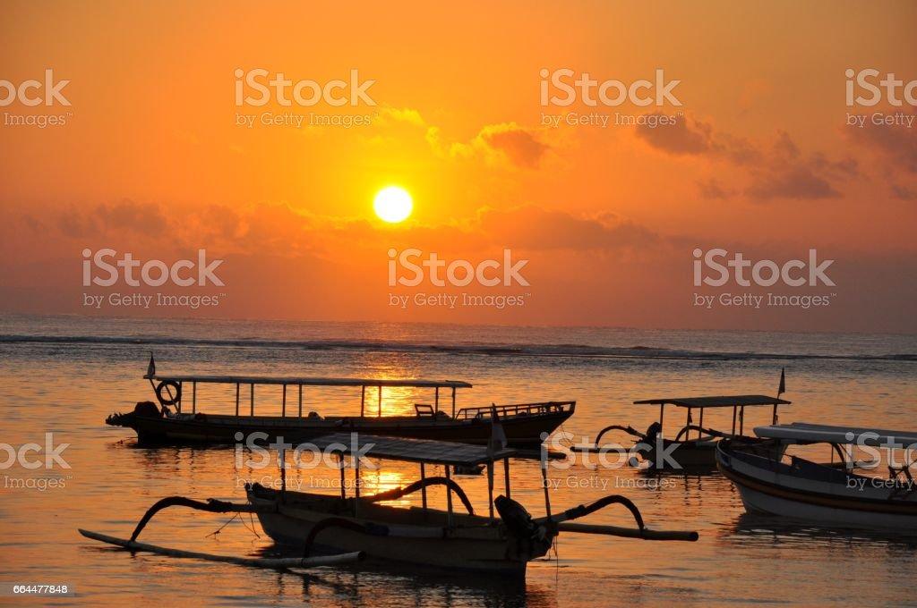 Bali Nusadua sunset stock photo