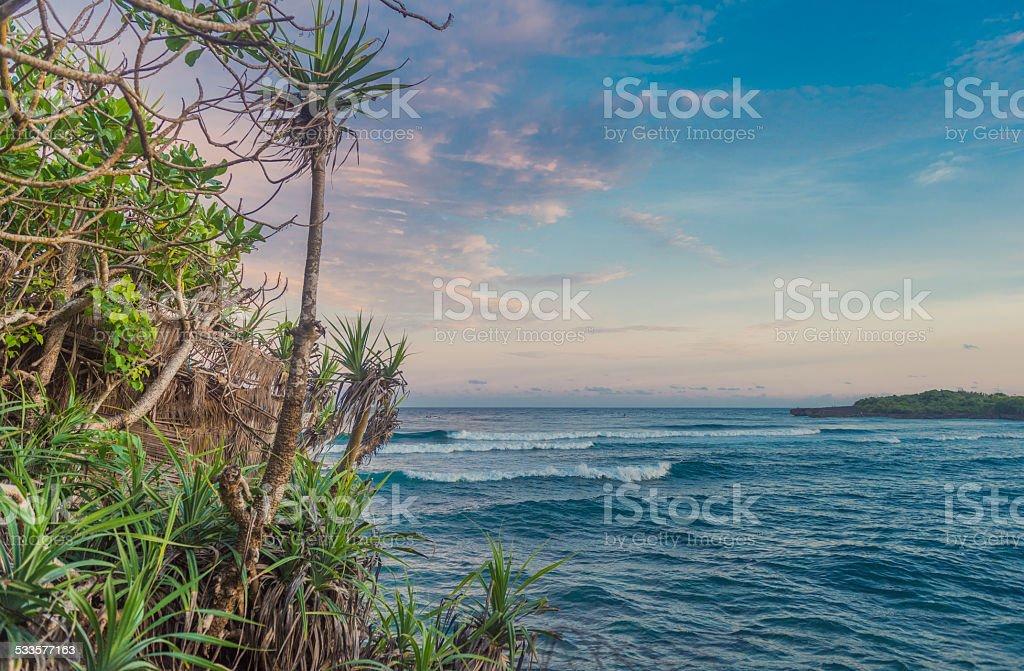 Bali Ocean Nusa Dua Water and Nature Landscape stock photo